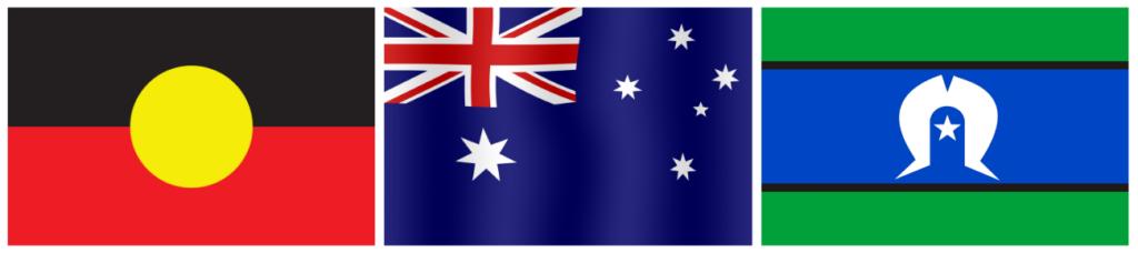 Australian & Aboriginal flags