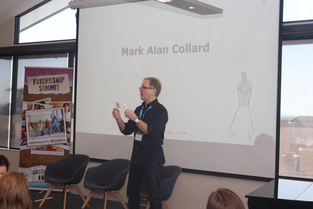 Mark Collard delivering keynote